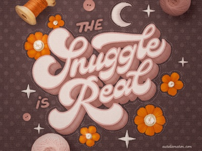 The Snuggle Is Real – Hand Lettering on Procreate textile hand lettering procreate brushes illustration procreate hand drawn custom type type lettering typography