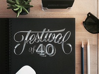 Festival of Forty – Chalk Typography
