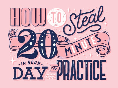 How to Steal 20 Minutes in you Day to Practice retro type procreate ipad lettering hand drawn typography custom type logotype type lettering