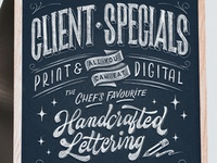 Client Specials – Close Up