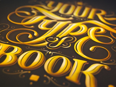 Your Type of Book book typography type letterform calligraphy editorial