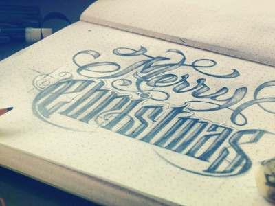Christmas Sketches.Merry Christmas Sketches By Aurelie Maron On Dribbble