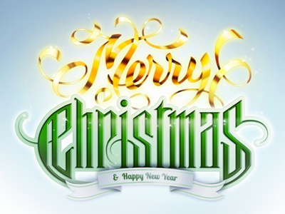 Merry Christmas  typography christmas type lettering photoshop vector illustrator