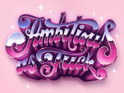 Ambitious AF procreate illustration logotype hand drawn custom type calligraphy logo type lettering typography