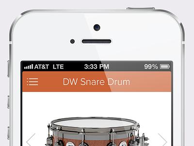 iOS Music Store Shopping App ios ecommerce flat