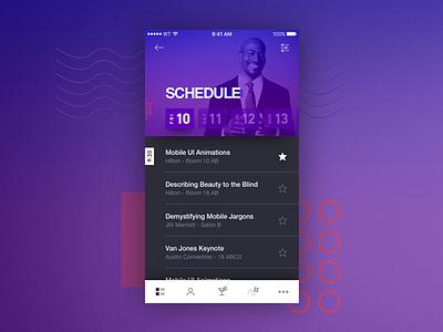 SXSW Workshop - Schedule sketch principle sxsw mobile ios