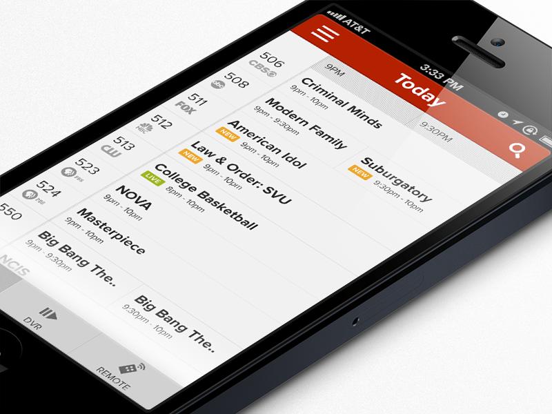 TV Guide/DVR/Remote App ios iphone