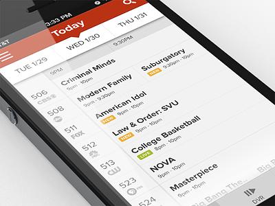 TV Guide/DVR/Remote App ios phone