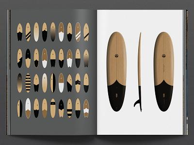 Surfboard Design Process wooden surfboard wood rendering book print process industrial design design handmade surfboard tide surf