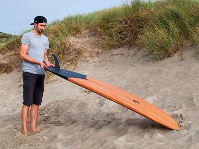 Handmade Wooden Surfboard cedar woodworking singlefin design kernow shaper beach otter uk cornwall wooden craft surfboard handmade wood surf