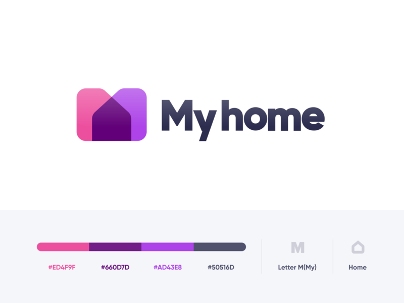 My home logo visual identity logo design house logodesign sign logotype icons home logos identity logo branding illustrator icon vector minimal flat illustration design