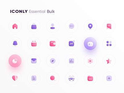Freebie: Iconly | Essential icons essential icons pack icon pack icons design home iconsset iconset icons set icon set icons branding logo ui illustrator icon vector minimal flat illustration design