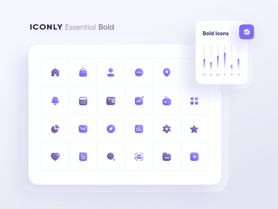 Iconly With Components icons voice manage game chart navigation qr search scan icon set iconsset iconset branding logo illustrator icon illustration design