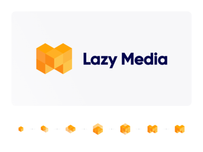 Lazy Media illustrations lazy identity design media illustraion identity ui branding app logo illustrator icon minimal flat illustration design