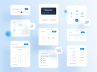 Mindify Component blue notes time expenses calendar task note website app ux ui vector icon minimal flat design illustration component