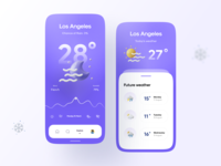 Weatherly Kit menu graph wind sunny sun moon weather icons 3d app 3d weather icon weather app weather app ui vector icon minimal flat illustration design