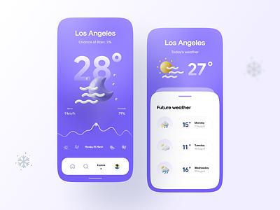 Weatherly Kit menu graph wind sunny sun moon weather icons 3d app 3d weather icon weather app weather app ui vector icon minimal flat illustration design
