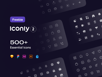 Freebie: Iconly 2 | Essential icons icon designs iconsset style icon icon pack iconography icons set icon design icons design essential icons iconset icons pack icon set icons essential illustrator ui icon minimal flat illustration