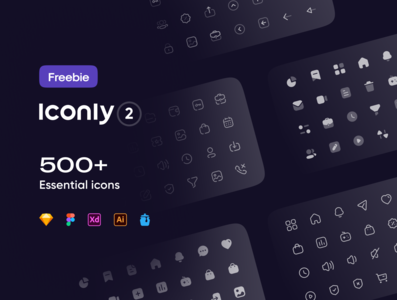 Freebie: Iconly 2 | Essential icons dashboard profile icons set icon design icons design essential icons iconset icons pack icon set icons essential illustrator ui vector icon minimal flat illustration design