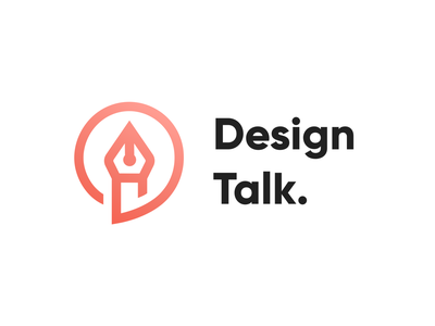 Design Talk Logo logo design logotype designers design talk designer talk orange branding illustrator ui vector icon minimal flat illustration design