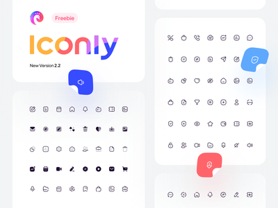 Freebie: Iconly V2.2 New Type essential iconly icon designer icons set icons pack iconography icon sets icon pack iconset icon set icon design icons logo illustrator ui vector icon design