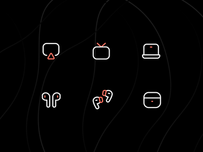 Iconly pro Part 1 iconography apple device airpod covid19 icon set icons set illustration icon design icon pack icons icon