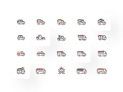 Minimal Car Icons icon pack iconly car icon car icons iconsset icon set icon design icons bmw illustration vector ui flat minimal icon car