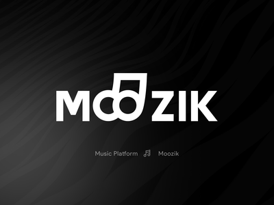 Moozik logo logos ci book brand book visual identity music logo sound music logo design branding logo minimal icon illustration