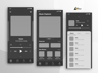 Wireframe app music