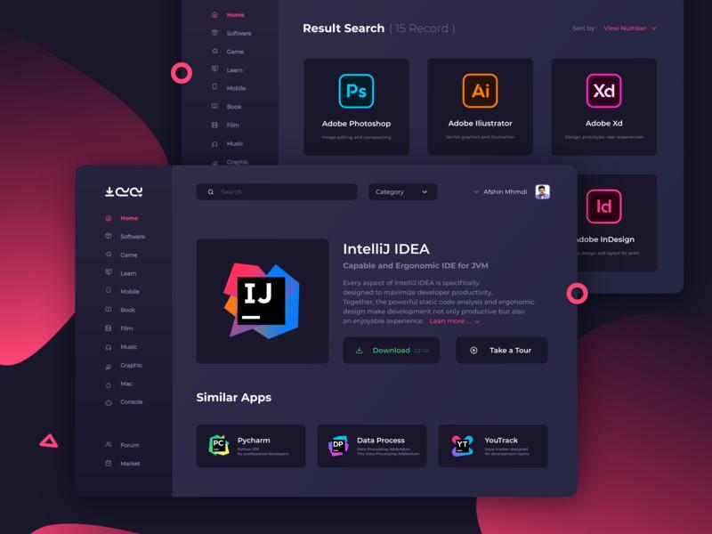 p30download concept 3 minimal website type branding flat logo web browse typography ui ux illustration design