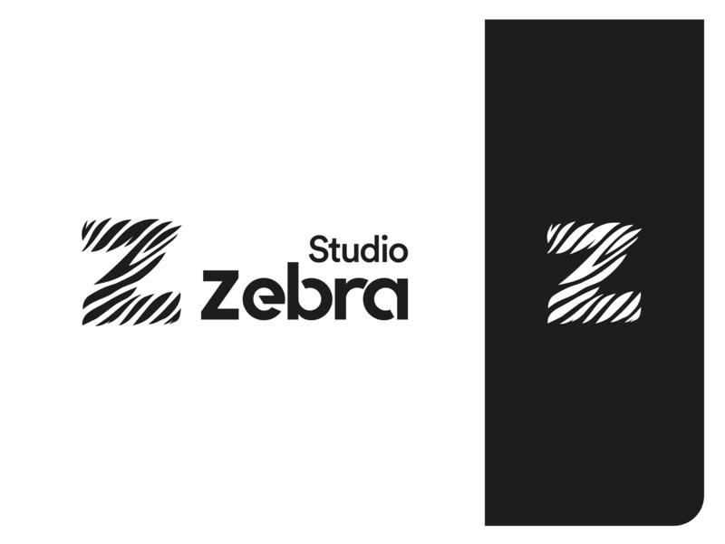 Zebra Studio identity design illustrator type branding logo minimal flat vector illustration