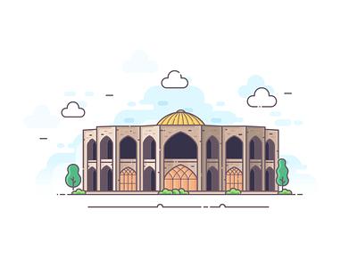Tabriz Illustrate illustrator tabriz persian iranian iran website minimal icon flat vector illustration design