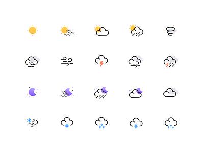 Weather icon set weather icon weather rain snow wind cloud sun moon illustraion illustrate set icon icons set icon set icons logo minimal icon flat illustration