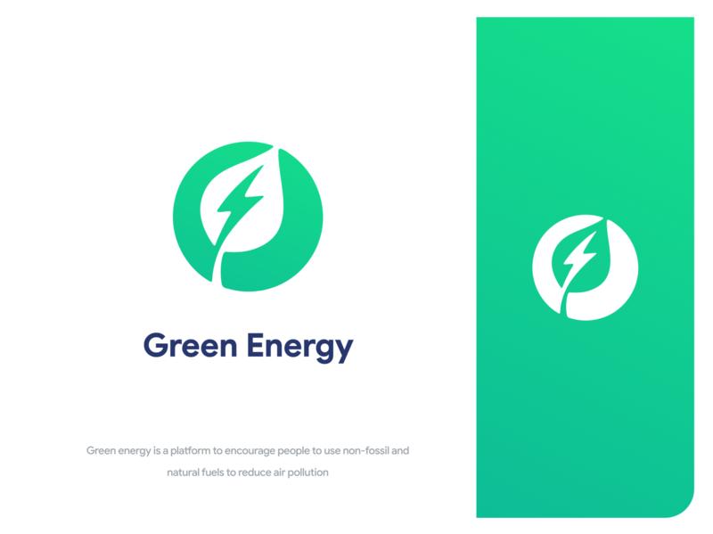 Green Energy energy plant green branding illustrator logo icon minimal vector ui flat illustration design
