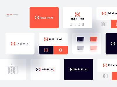Helia Hotel Brand Book brandbook wheat stars star travel red visual identity identity logodesign hotel branding logo illustrator typography icon minimal vector flat illustration design