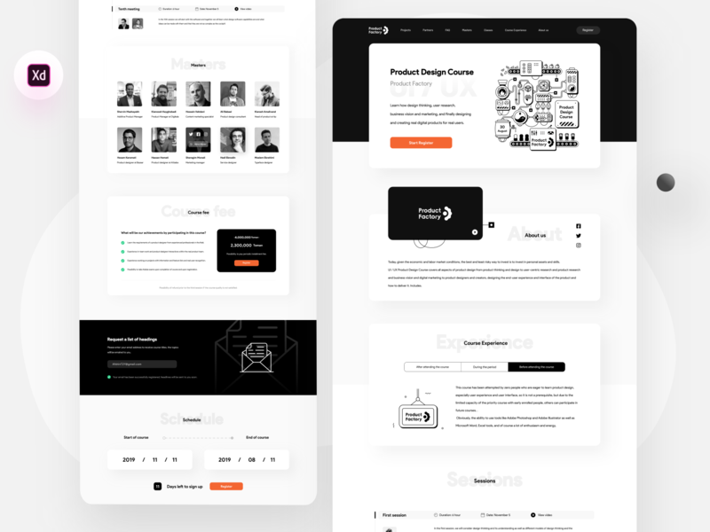 Freebie: Product Factory product design product factory learning learn course black typography ui web website illustrator icon vector minimal flat illustration