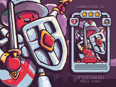 PIXEL! Four Arm Knight warrior sheild armor sword knight deck card pixel art pixel