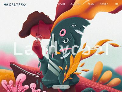 Me · Whale · Coral ipad procreate wine orange green pink moutain glasses illustration potrait sakura coral whale