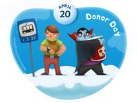 In the sky \ April 20 - Donor Day