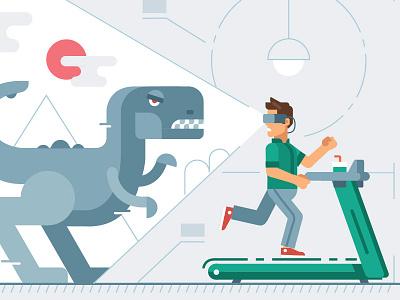 Kaspersky Lab calendar 2018/ Fitness equipment + VR dinosaur vr run raptor flat fitness kaspersky