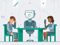 Kaspersky Lab calendar 2018/ Robot president