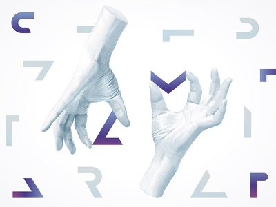 Programming & design studio coding combine design hands font invisible it programming technology