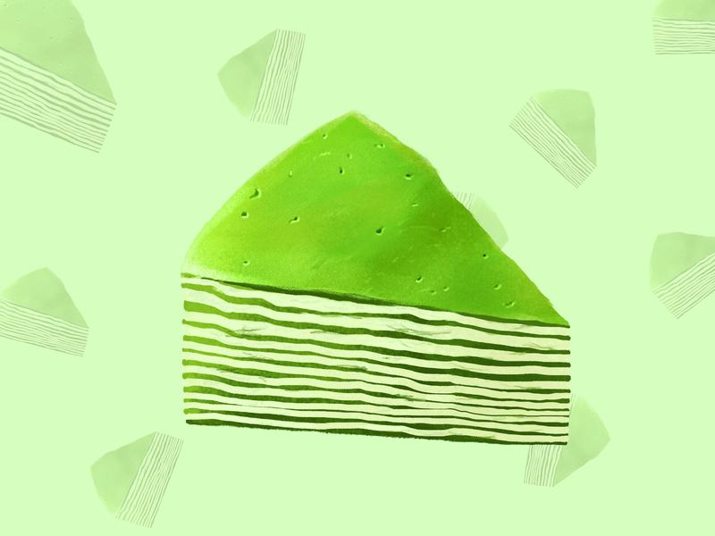 抹茶千层蛋糕🍰 插图
