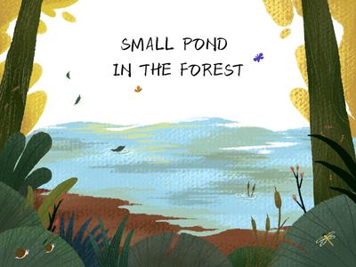 森林中的小池塘