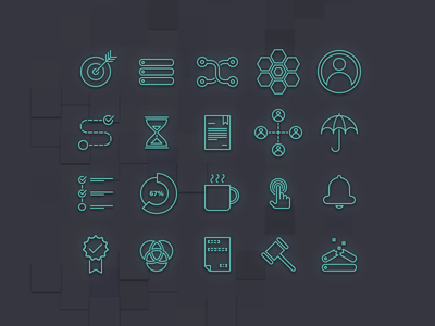 ECOMPLY marketing icon-set incident path data-flow icons icon-set