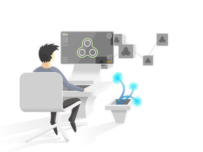 CONNECT website illustration coding vector illustration sketch visual programming illustration svg