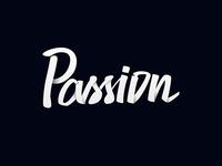 Passion | custom lettering