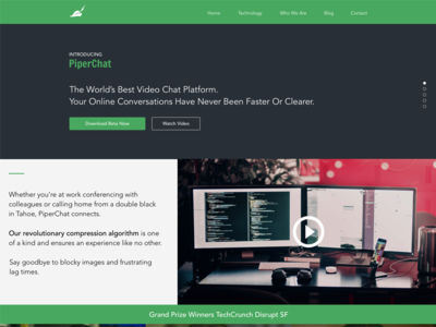 Silicon Valley Pied Piper Landing Page