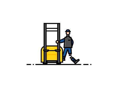 👷♂️ - Work Accident vector illustrator client work illustration