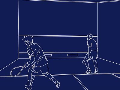 🎾 - Squash white blue sport squash illustrator photo illustration vector